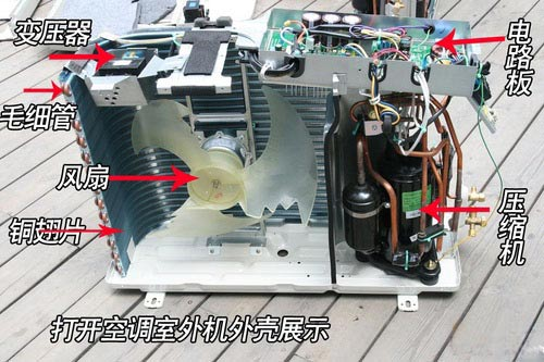 大金空调拆机的步骤:   1. 回收制冷剂,无论是冬季,还是夏季移机,都必须把空调器中的制冷剂收集到室外机中去。拆机前应启动空凋器,可用遥控器设定制冷状态,待压缩机运转5-10分钟,制冷状态正常后,用扳手拧下外机的液体管与气体管接口上的保帽,关闭高压管(细)的截止阀门,l分钟后管外表结露,,再转一分钟,关闭低压管(粗)截止阀门,同的迅速关机,拔下电源插头,用扳手拧紧保险帽,至此回收制冷剂工作完成。(如果是冬季,宜先用温热的毛巾盖住室内机的温度传感器探头,然后控制冷状态设定开机。) 也可采用室内机上的